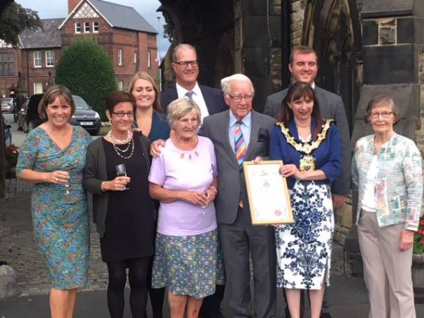Freedom of Northwich Award for David Roberts